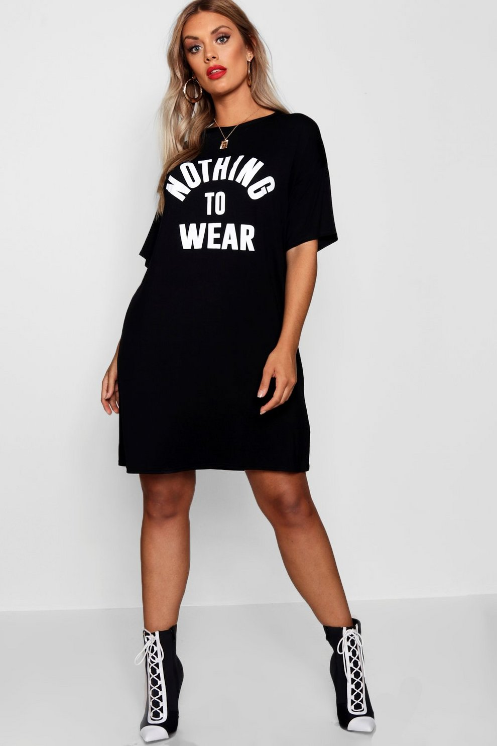 7e8bc6c5862760 Plus Nothing To Wear T Shirt Dress