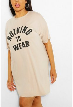 "Vestido camisero ""Nothing To Wear"" Plus, Stone"