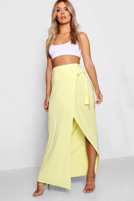 Plus Wrap Maxi Skirt