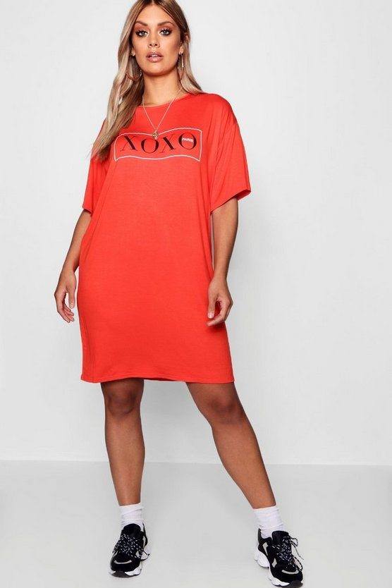 Plus XOXO Paris T Shirt Dress