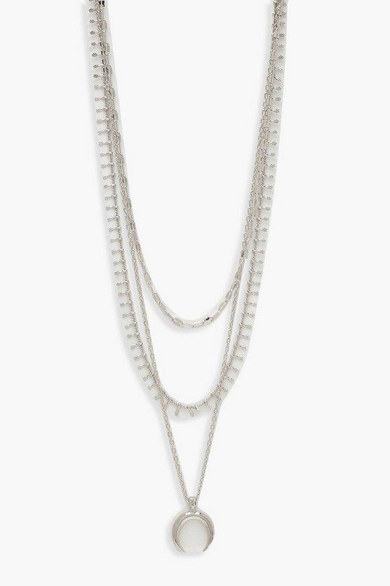 Plus Moon Layered Choker Necklace