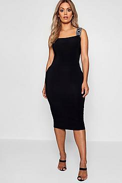 Woman Slinky Midi Dress