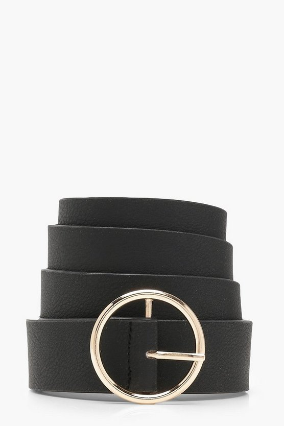 Plus  Gold Circle Ring Boyfriend Belt
