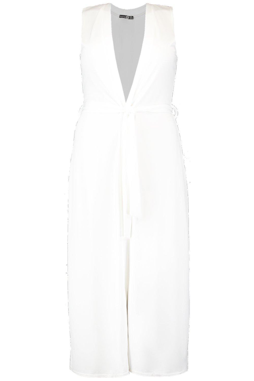 cinturón Plus guardapolvo larga blanco Chaqueta estilo con wpU1WWnSgq