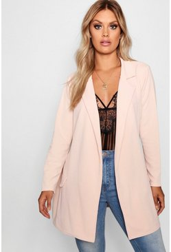 Blush Plus  Oversized Tie Blazer