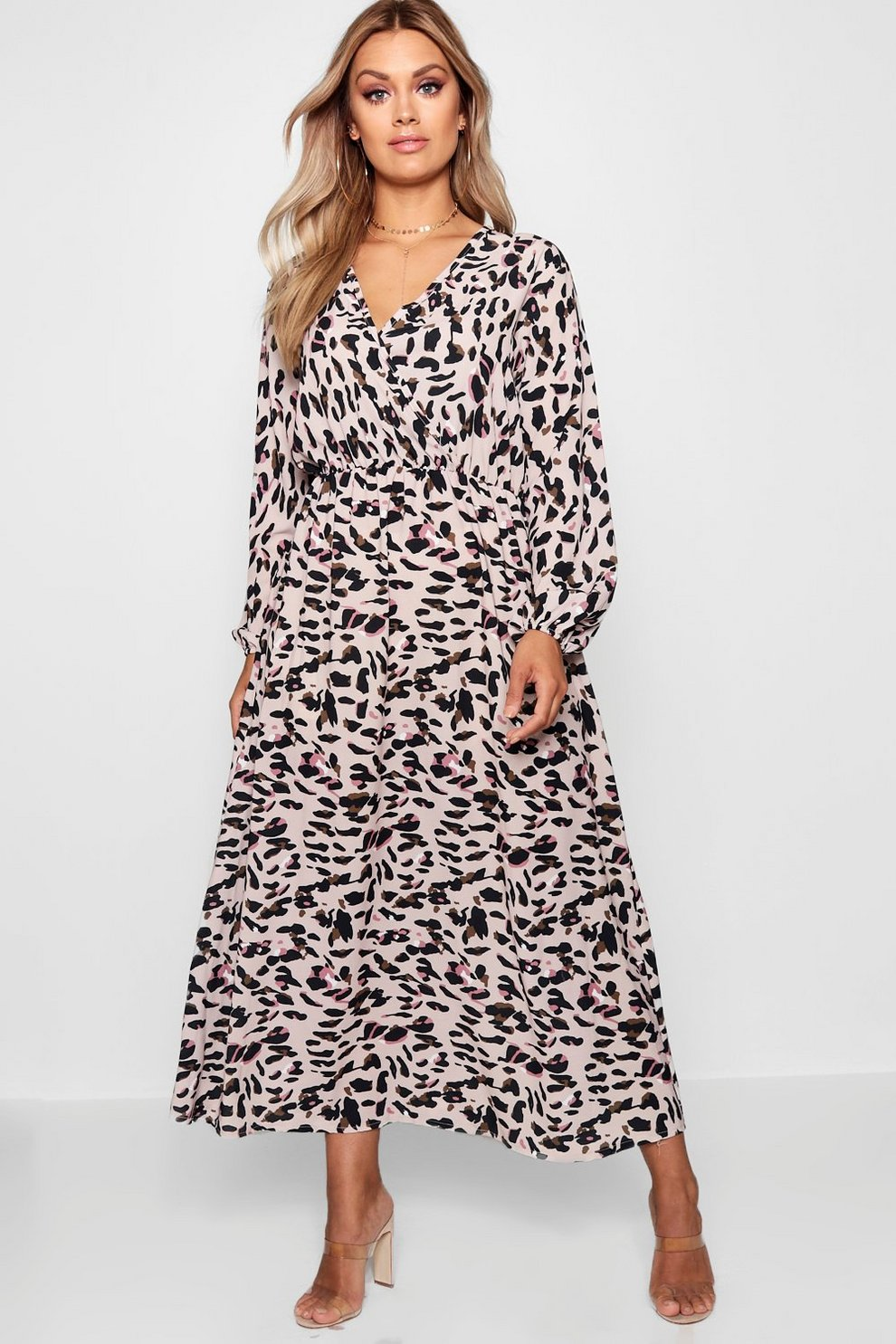 9229be21f5426 Plus Leopard Midi Dress | Boohoo