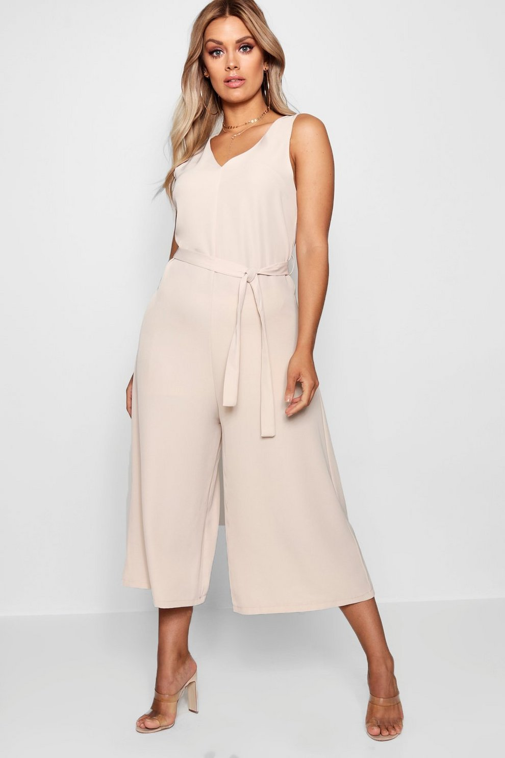 eb6dae9a2be Plus Plunge Culotte Jumpsuit