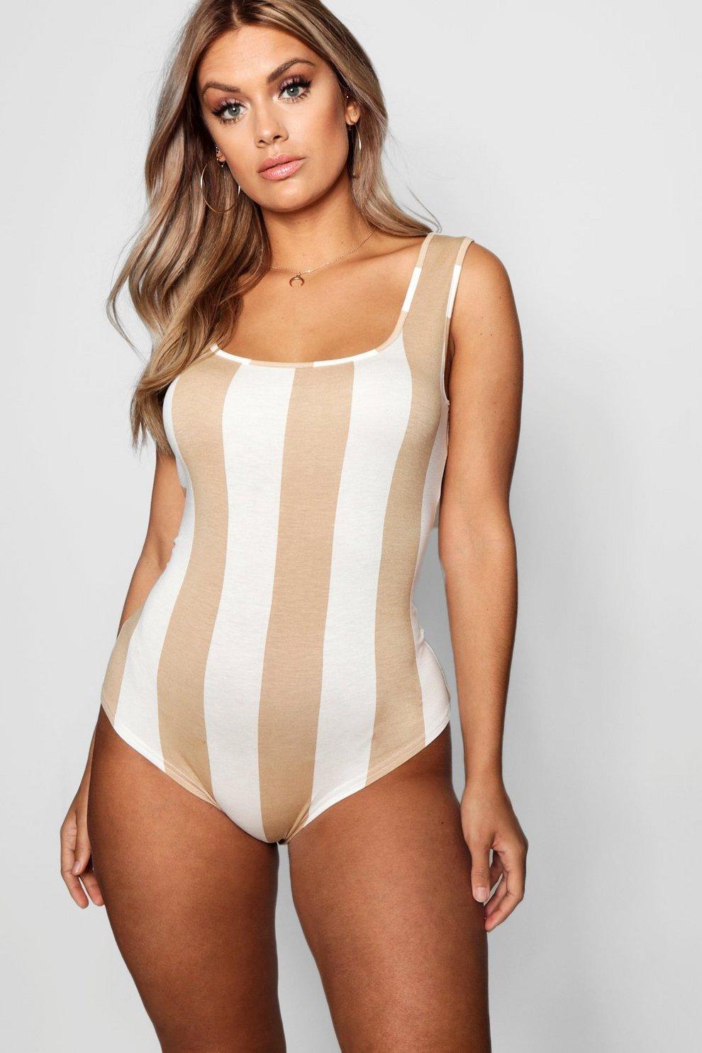 d790313d73e Plus Tonal Stripe Bodysuit