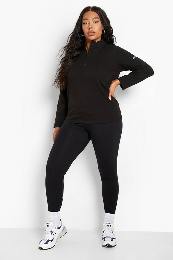 Womens Black Plus  Thigh Waist Sculpt Legging