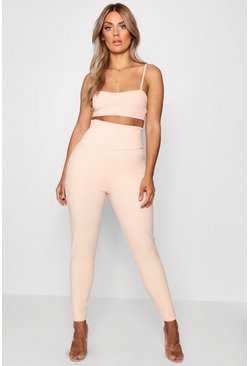 Plus – Figurformende Leggings, Hautfarben, Damen