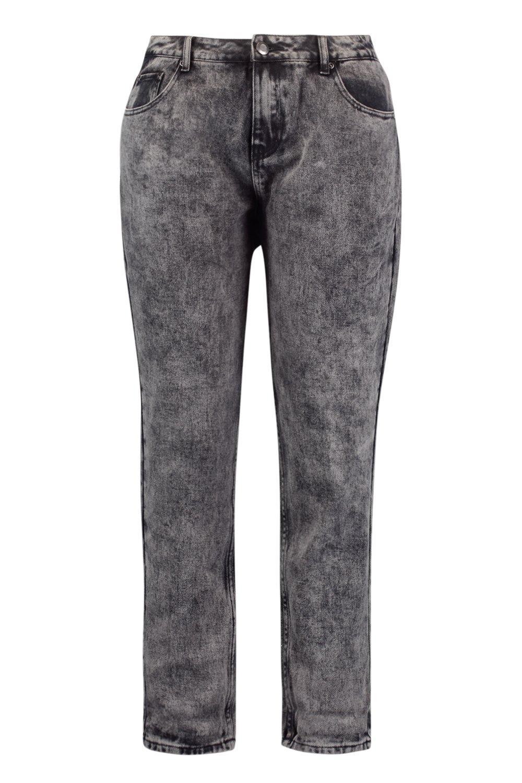 estilo lavado gris ácido con boyfriend Plus Jeans 168xqO06