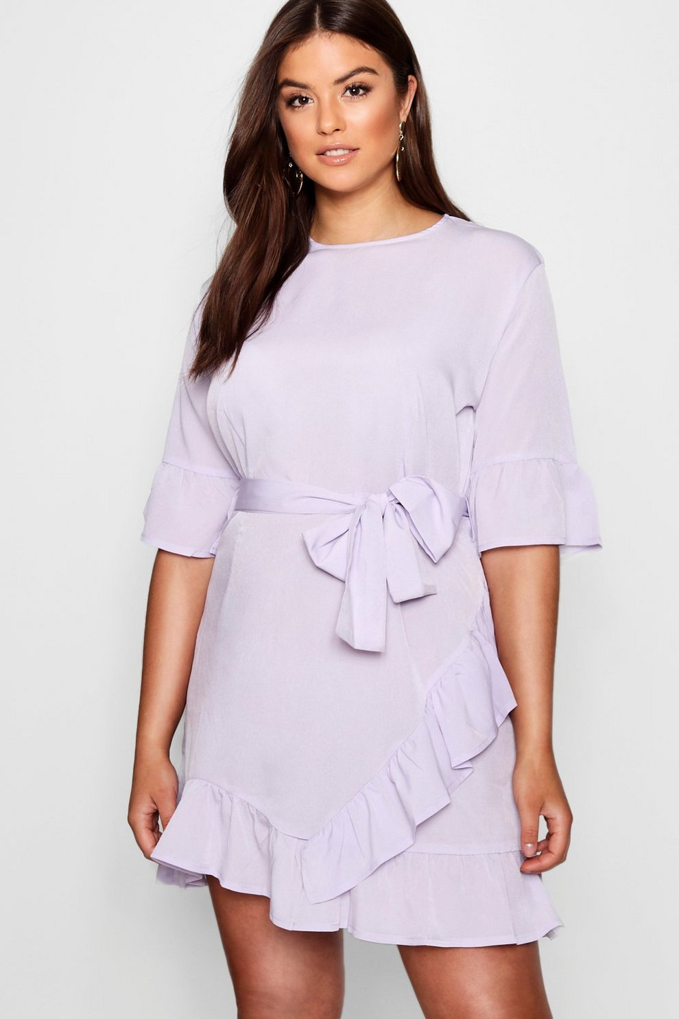 Plus Ruffle Wrap Dress Boohoo