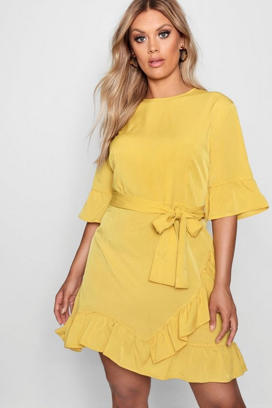 Plus Ruffle Wrap Dress