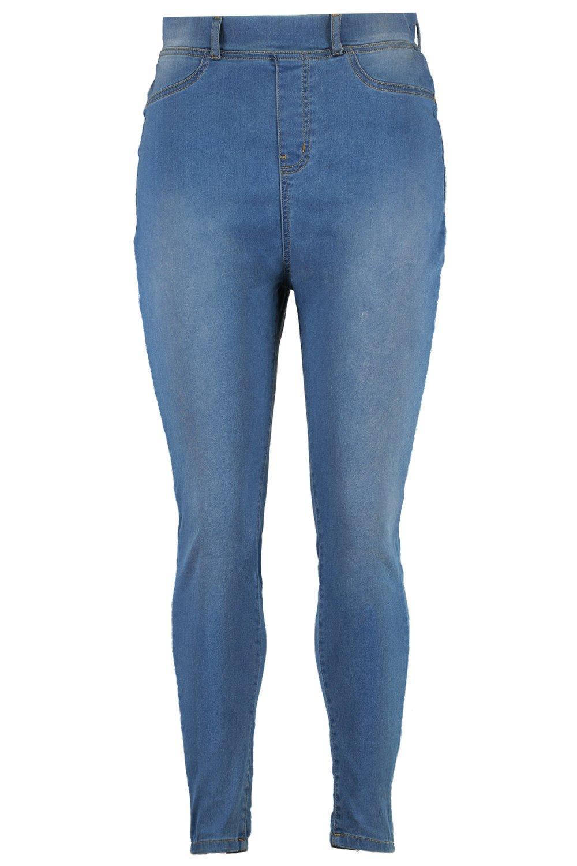 con básicos Jeggings vintage lavado Plus azul vintage 80xgxq