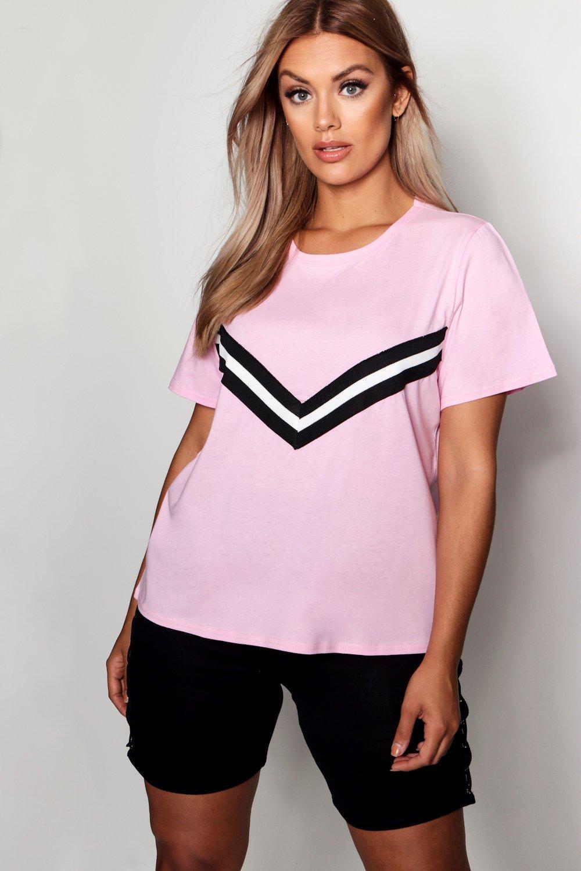 deportivo adorno Rosa con Camiseta Plus pastel HxZq4Ezw