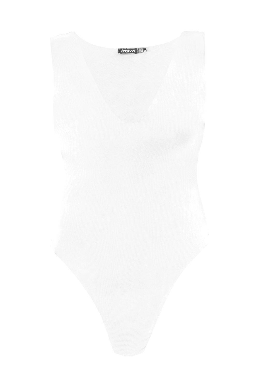 Plus cuello capa con de blanco Body doble pronunciado xnqSYwUU8F