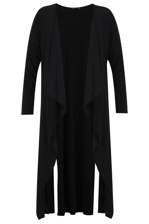 Guardapolvo elegante Plus cascada en negro rgaPrq