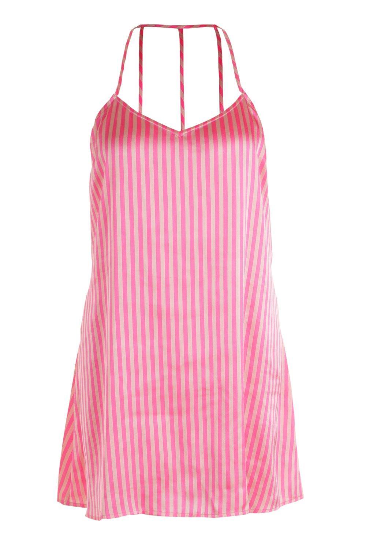 Dress Stripe Night Satin Slip Plus qwa7SAIR