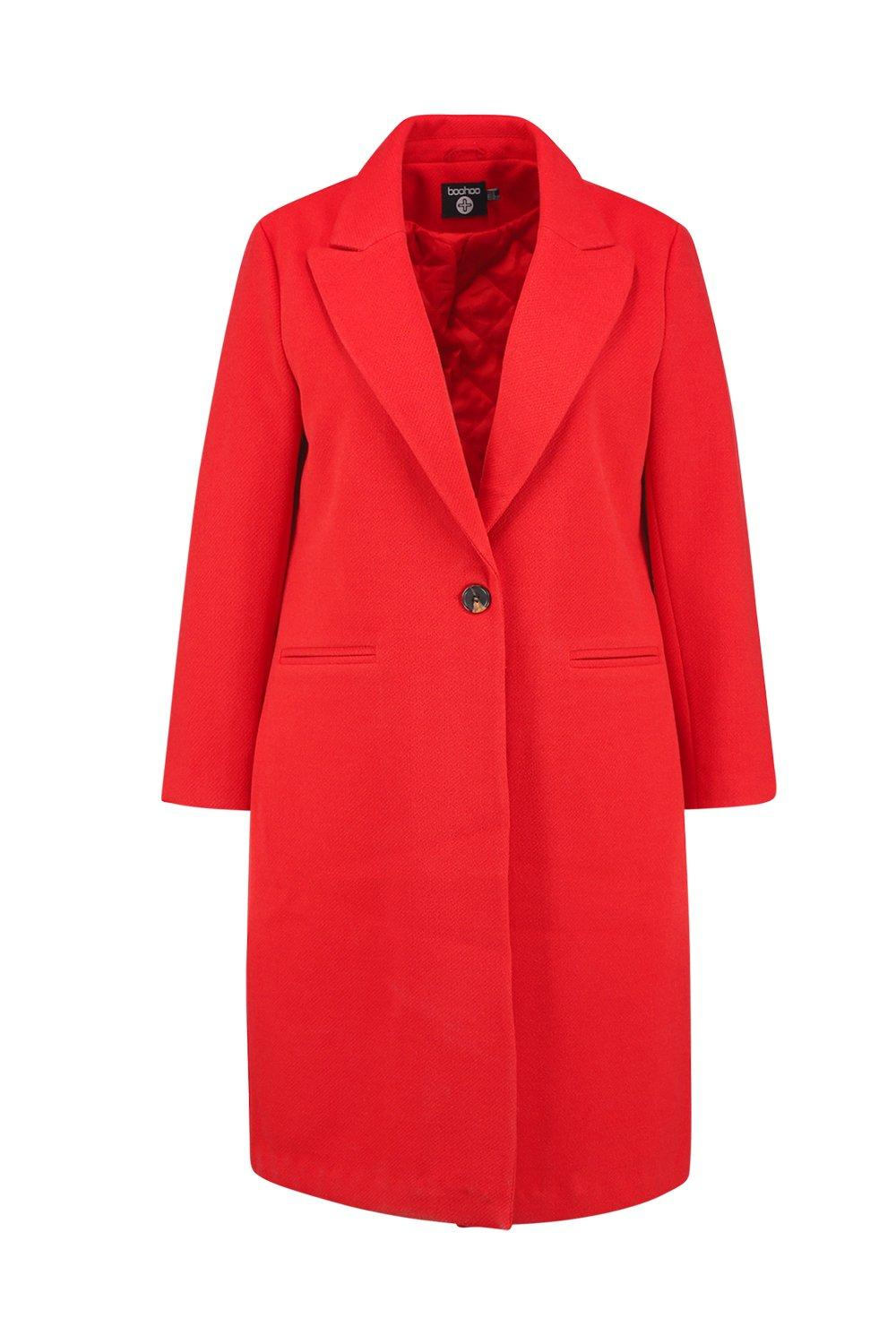 Coat Plus Longline red Longline Longline red Coat Formal Plus Plus Formal YOYwHZqt