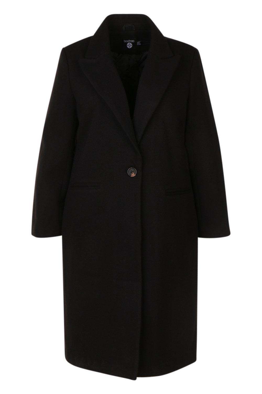 Plus Daisy Formal black Longline Coat aFOqa6r
