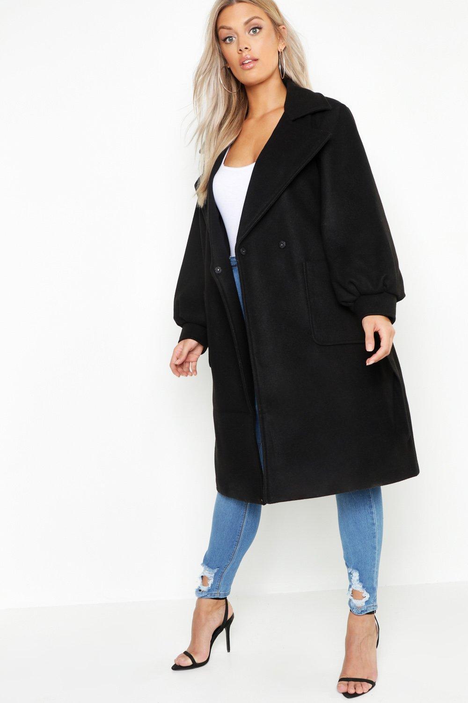 Mac Look Wool Plus Belted black 7qwxt4C