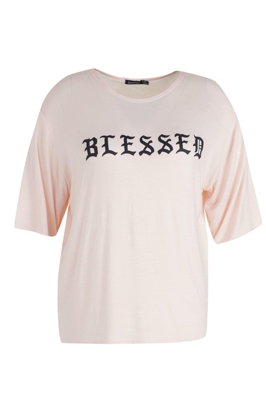 """con Camiseta con Camiseta """"Blessed eslogan eslogan """"Blessed Camiseta vRXHfq"""