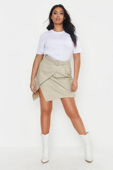 Womens White Plus Oversized Boyfriend T-Shirt