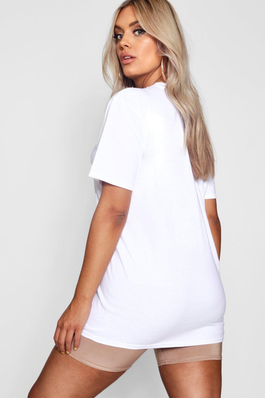 con Gang Girl Plus blanco 1990 eslogan Camiseta con A4qwA