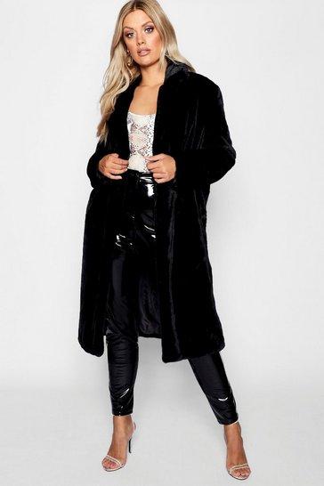 370550029 Plus Maxi Soft Faux Fur Coat