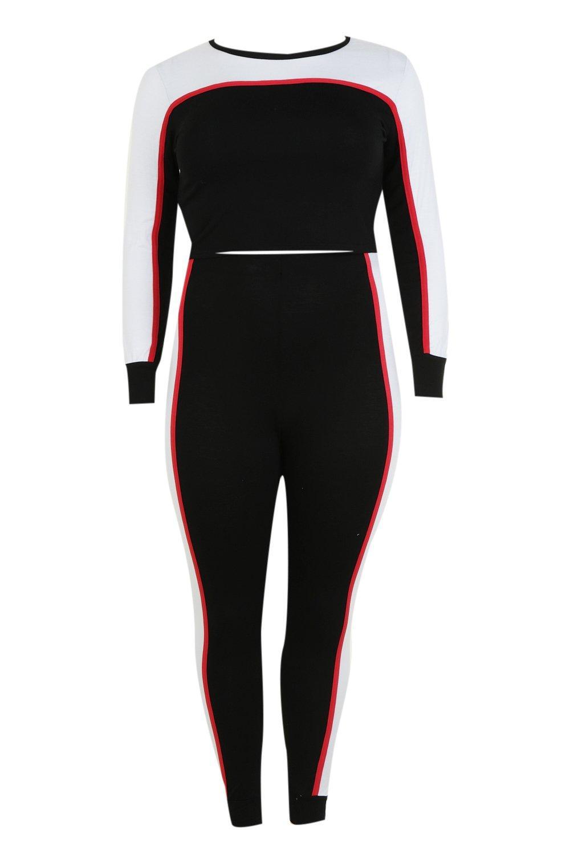 Set black Loungewear Contrast Plus Colour Block HaWXI47q