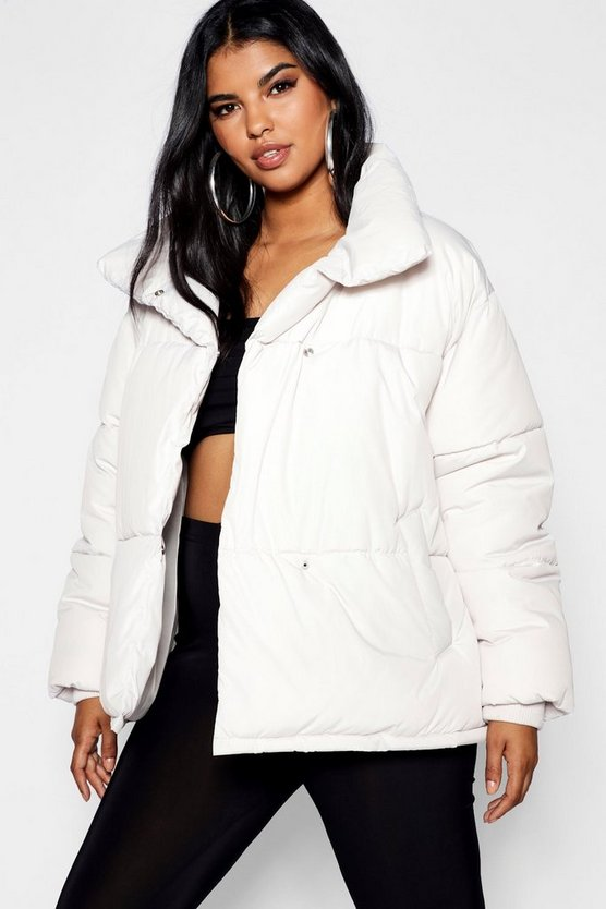 Womens Dove Plus Oversized Soft Puffer Jacket