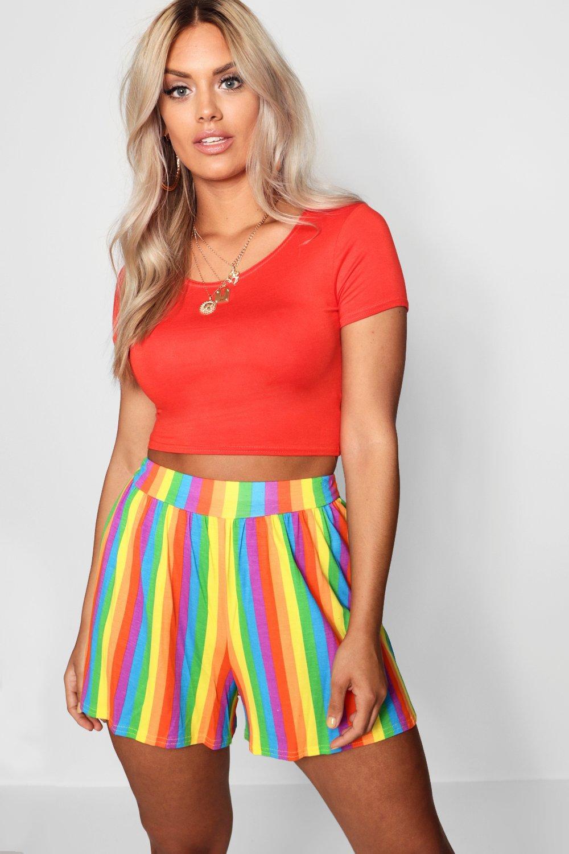 Rainbow Hem multi Short Flippy Plus zdqw66