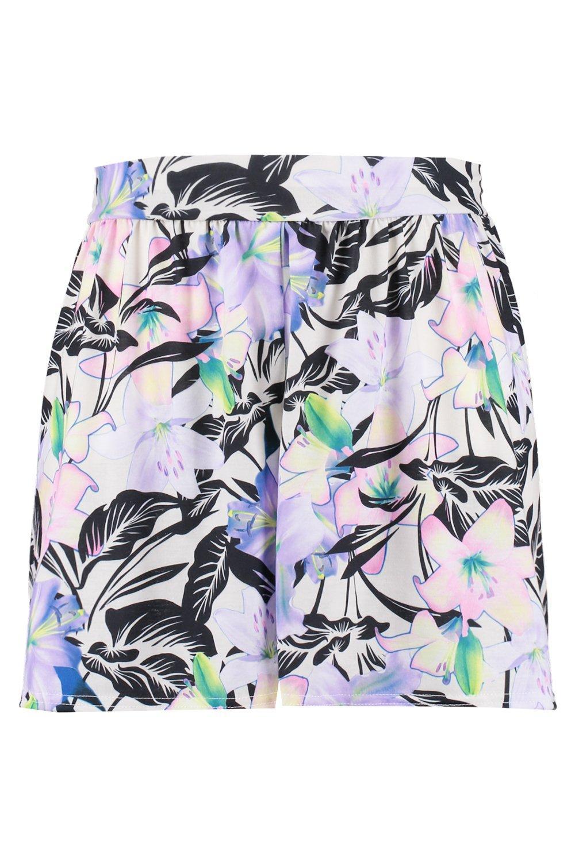 Flippy Shorts Plus Print floral Hem 5wXwPqtx