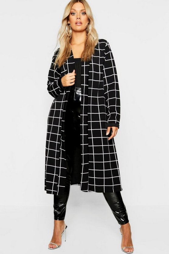 Plus Windowpane Check Duster