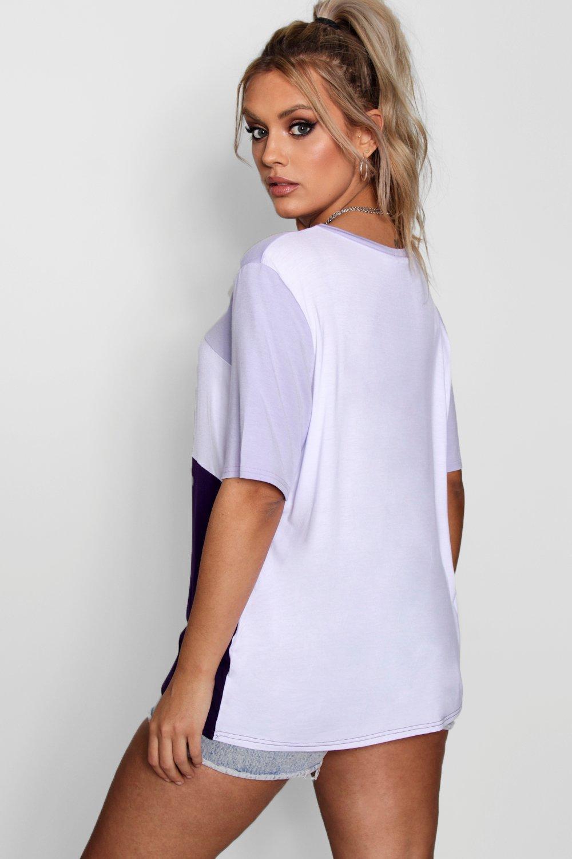 shirt blocchi a colore Plus t pAqvFF