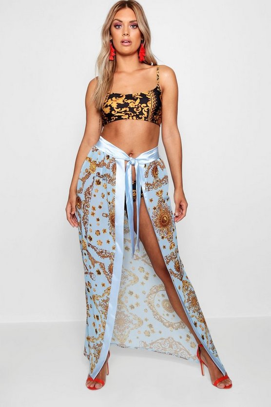 Plus Gemma Collins Chain Print Sarong