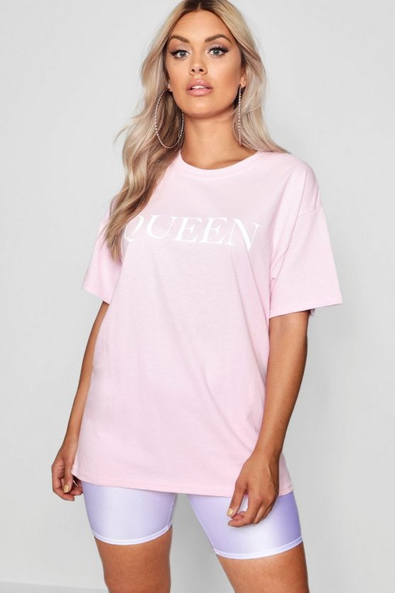 Plus Queen Slogan Oversized T Shirt