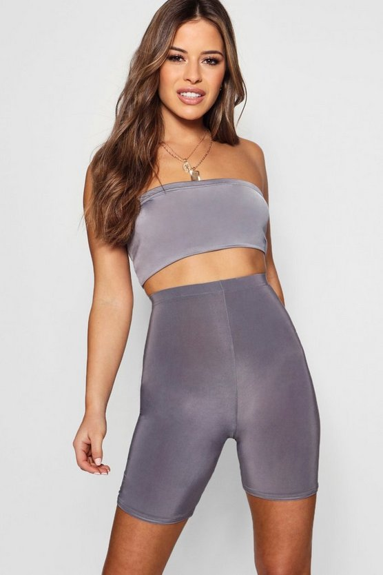 Petrol Petite  Slinky High Waisted Cycling Short
