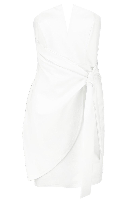 Detail Wrap Tie V Dress Mini Petite Bar qEZPWB