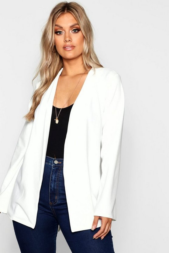 Plus Longline Flared Sleeve Blazer