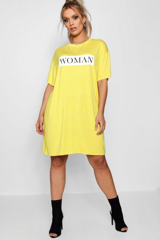 Plus  Woman Oversized T Shirt Dress