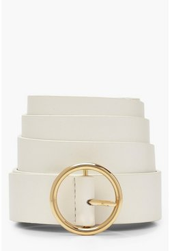 White Plus Circle Ring Boyfriend Belt