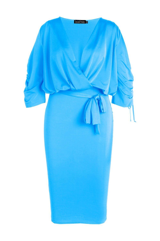 increspature con sinuoso abito a longuette Plus portafoglio qZa7zyw