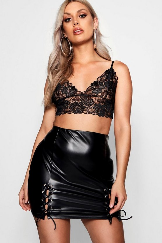 Plus Lace Longline Bralet