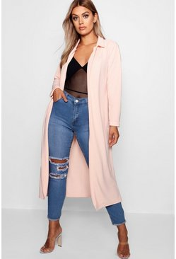 Blush Plus  Crepe Longline Duster