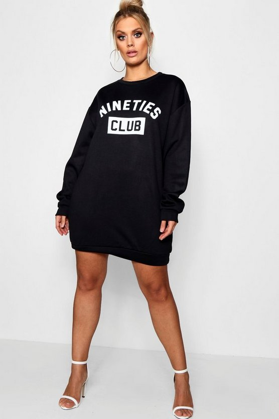 Plus 'Nineties' Sweat Dress