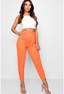 Womens Tangerine Petite Pleat Front Pants