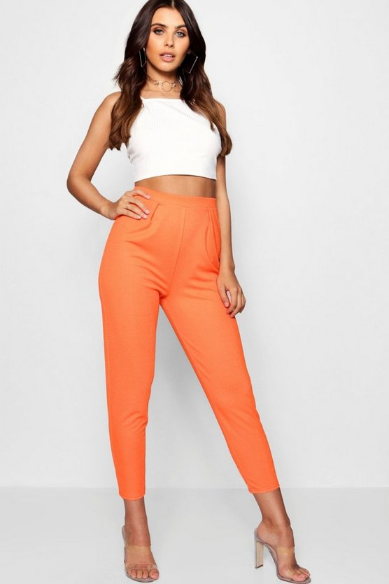 Womens Tangerine Petite  Pleat Front Trouser