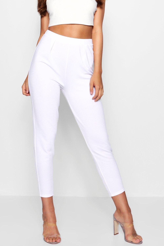 plisado petite blanco Pantalones con frente de fFayyCqH