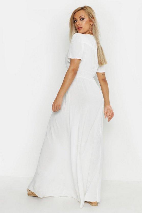 Plus Ruched Waist Maxi Dress